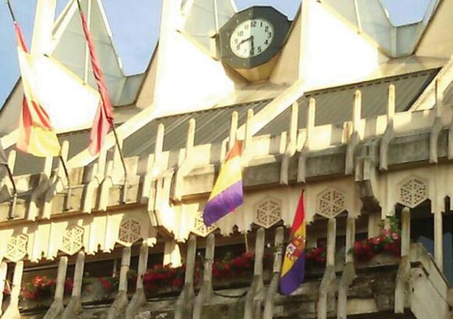 Una bandera que estuvo fuera de lugar