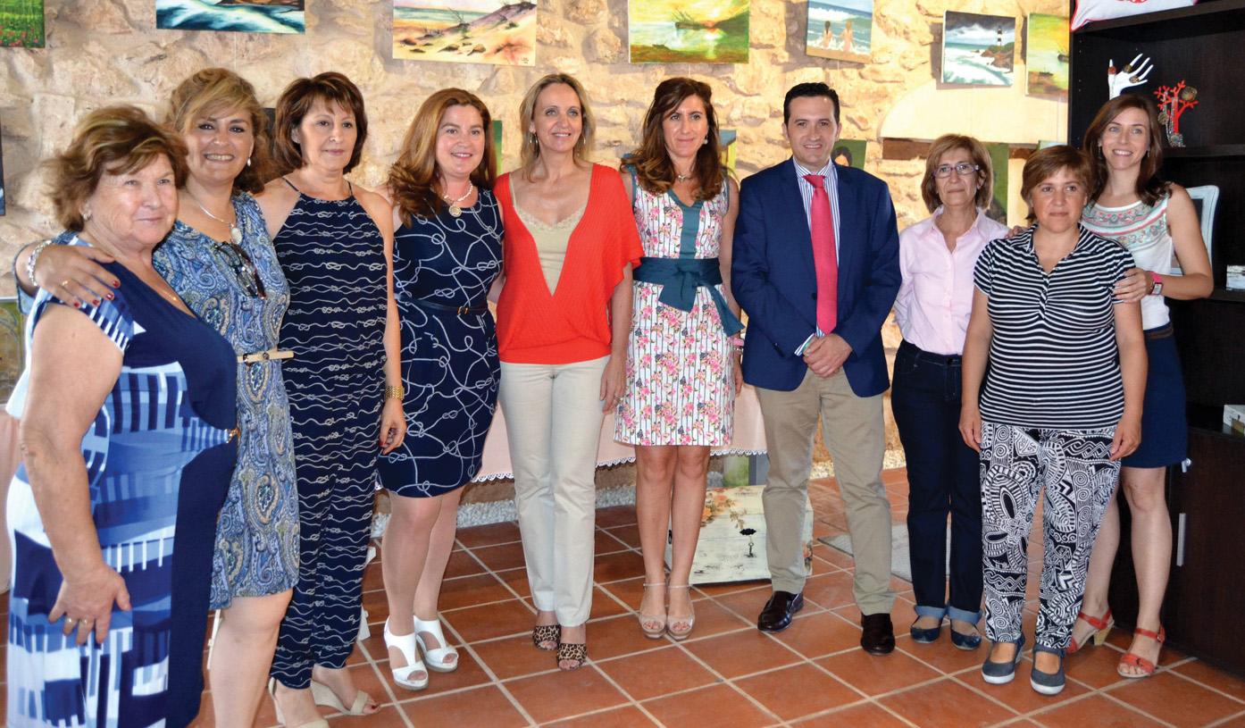 Carmen Casero visitó el curso de «Creación de Empresas»