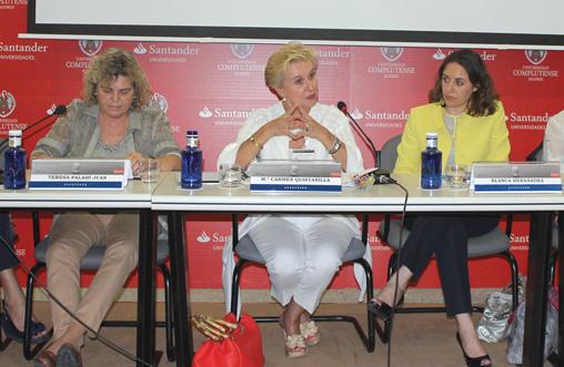 Carmen Quintanilla estuvo en los Cursos de Verano de El Escorial
