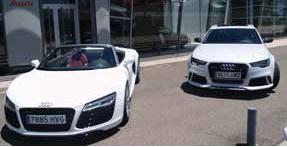 Tresa Automoción ofreció probar los Audi RS6 y R8 Spyder a clientes y medios de comunicación