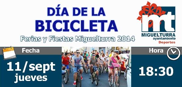 Todo preparado para el día de la bicicleta en Miguelturra