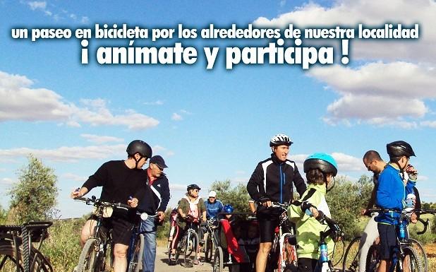 «Deporte en familia» un paseo en bicicleta por Miguelturra para promocionar hábitos de vida saludable