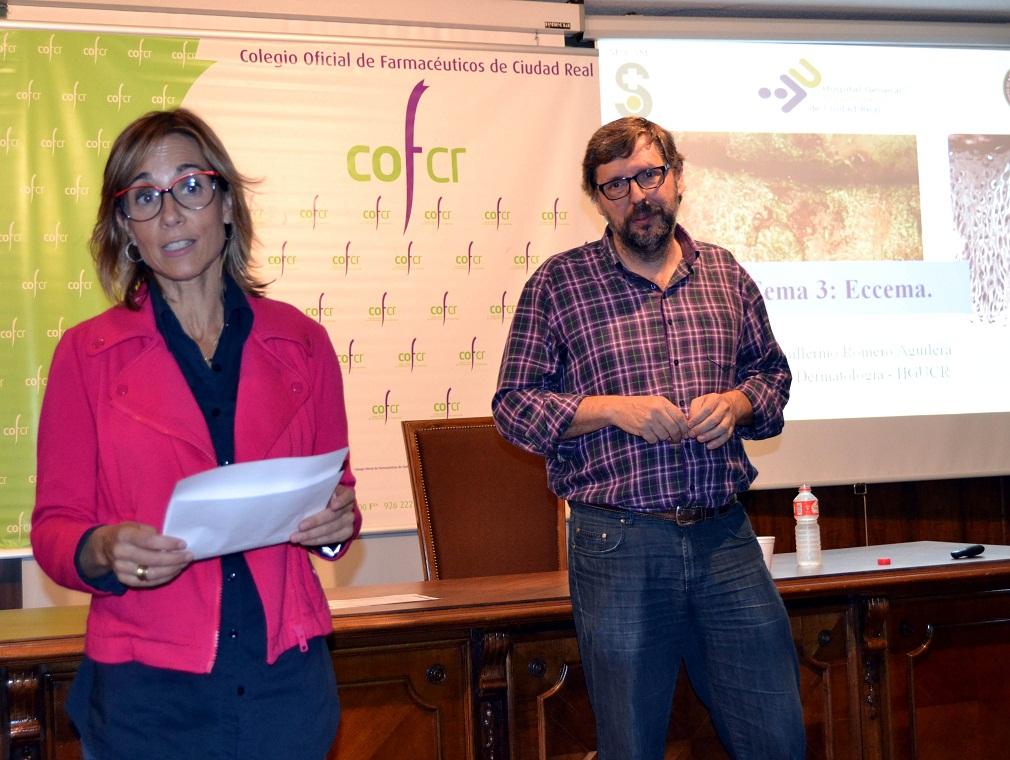 El ciclo de actividades de formación del COF Ciudad  Real 2014-15 se abre con una charla sobre las patologías dermatológicas frecuentes