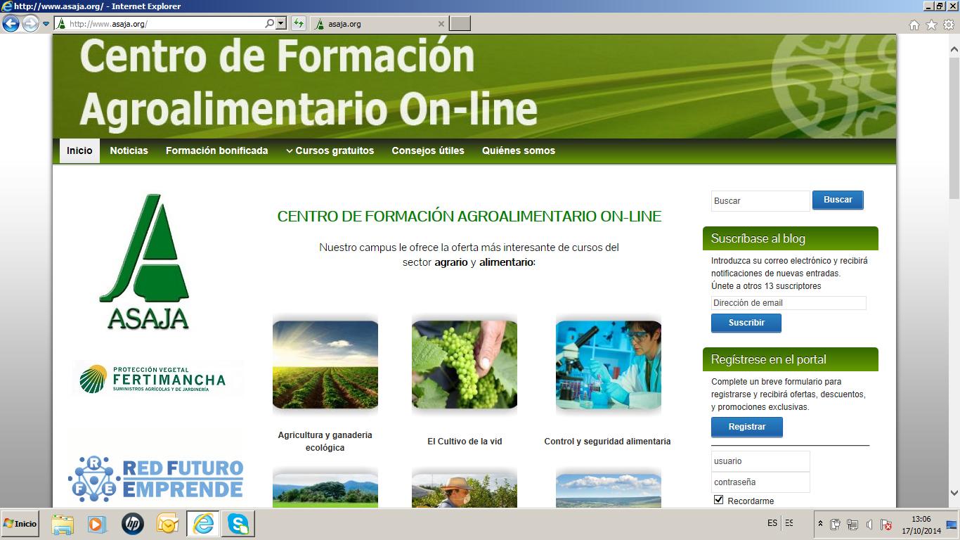 ASAJA Ciudad Real pone en marcha un espacio web sobre formación