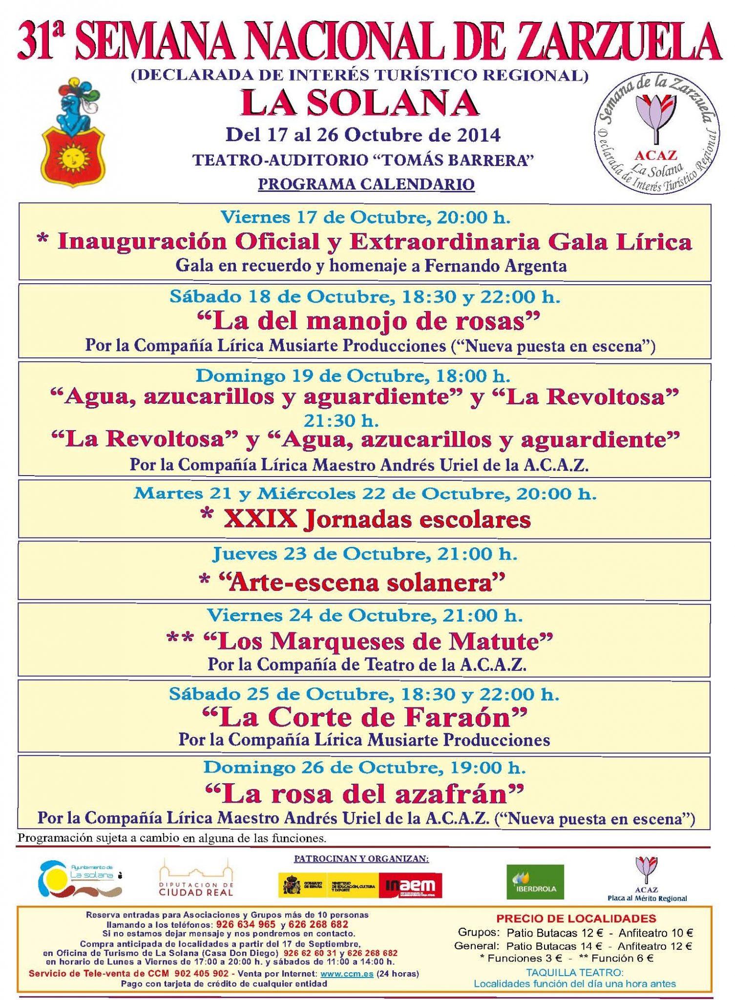 31 Semana de la Zarzuela de La Solana
