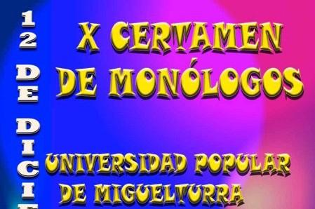 Convocado el décimo Certamen de Monólogos Universidad Popular de Miguelturra memorial Darío González