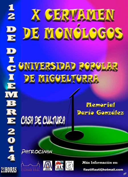 X Certamen Monólogos Miguelturra