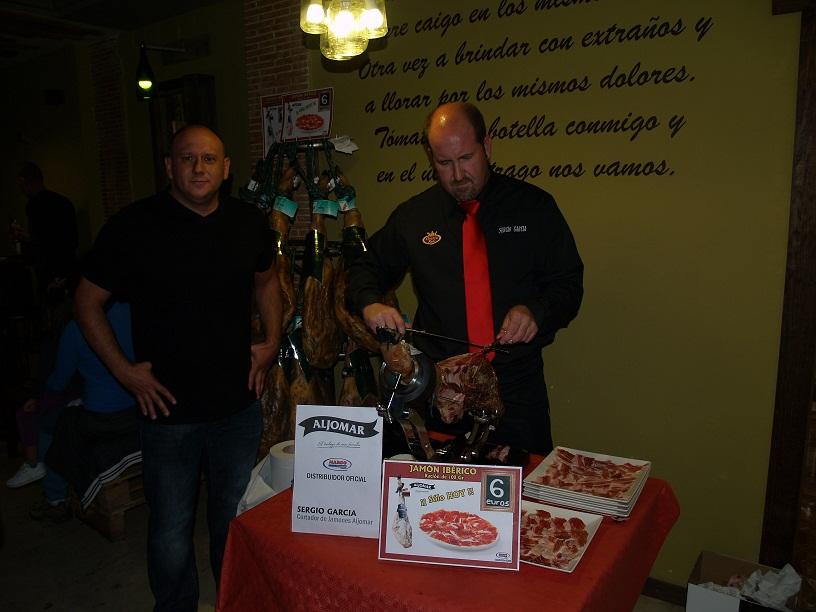 Cata de jamón ibérico Aljomar organizada por Margo en Ciudad Real