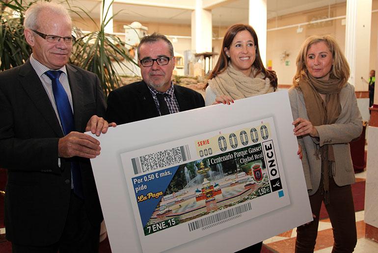 El cupón de la ONCE del 7 de enero estará dedicado al I Centenario del Parque de Gasset de Ciudad Real