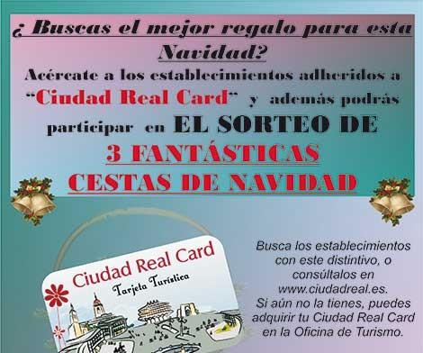 Los poseedores de la tarjeta turística «Ciudad Real Card» tendrán descuentos en las compras navideñas y podrán optar al sorteo de tres cestas de Navidad
