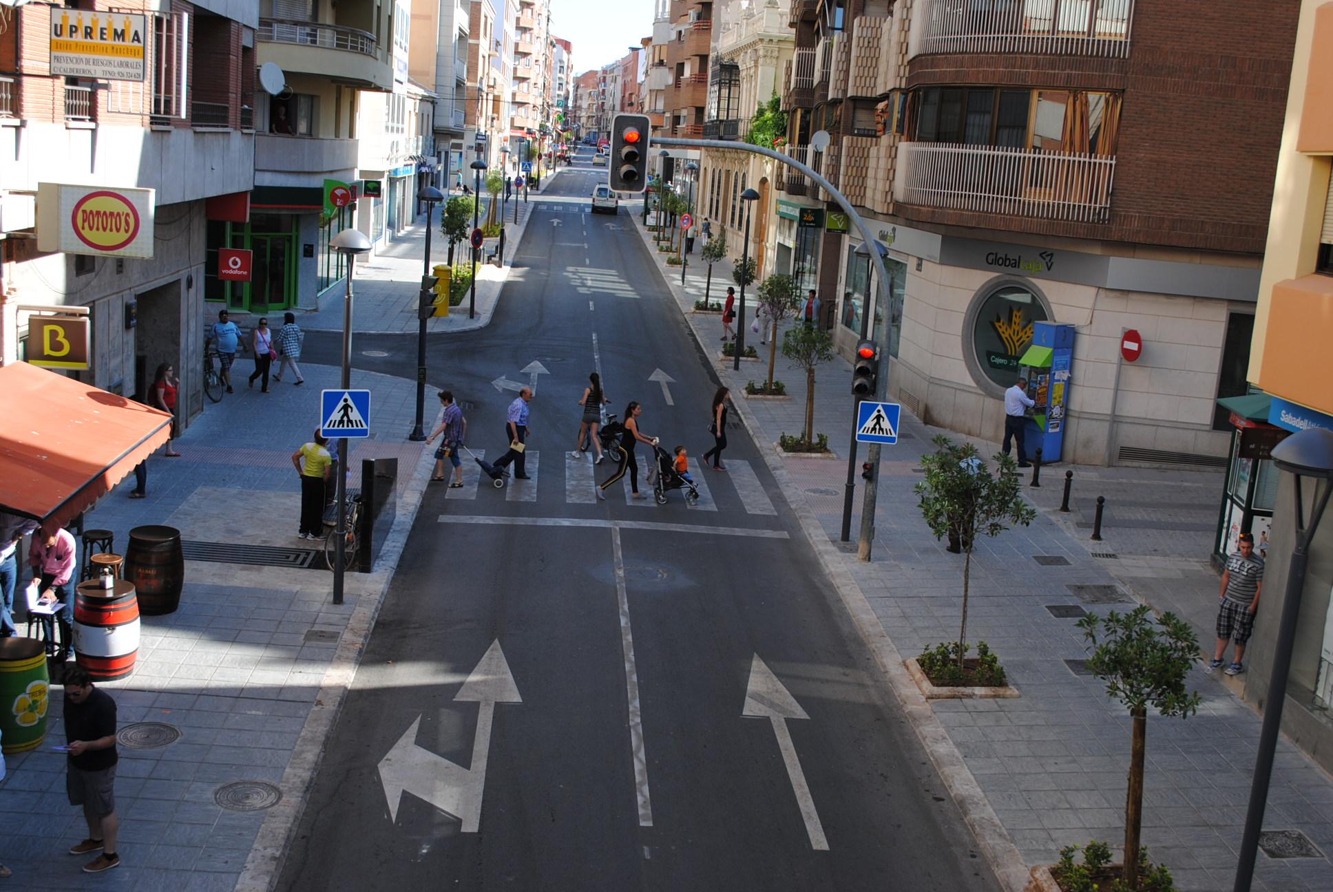 El número de accidentes descendió en Valdepeñas en 2014 un 12,5% respecto al año anterior