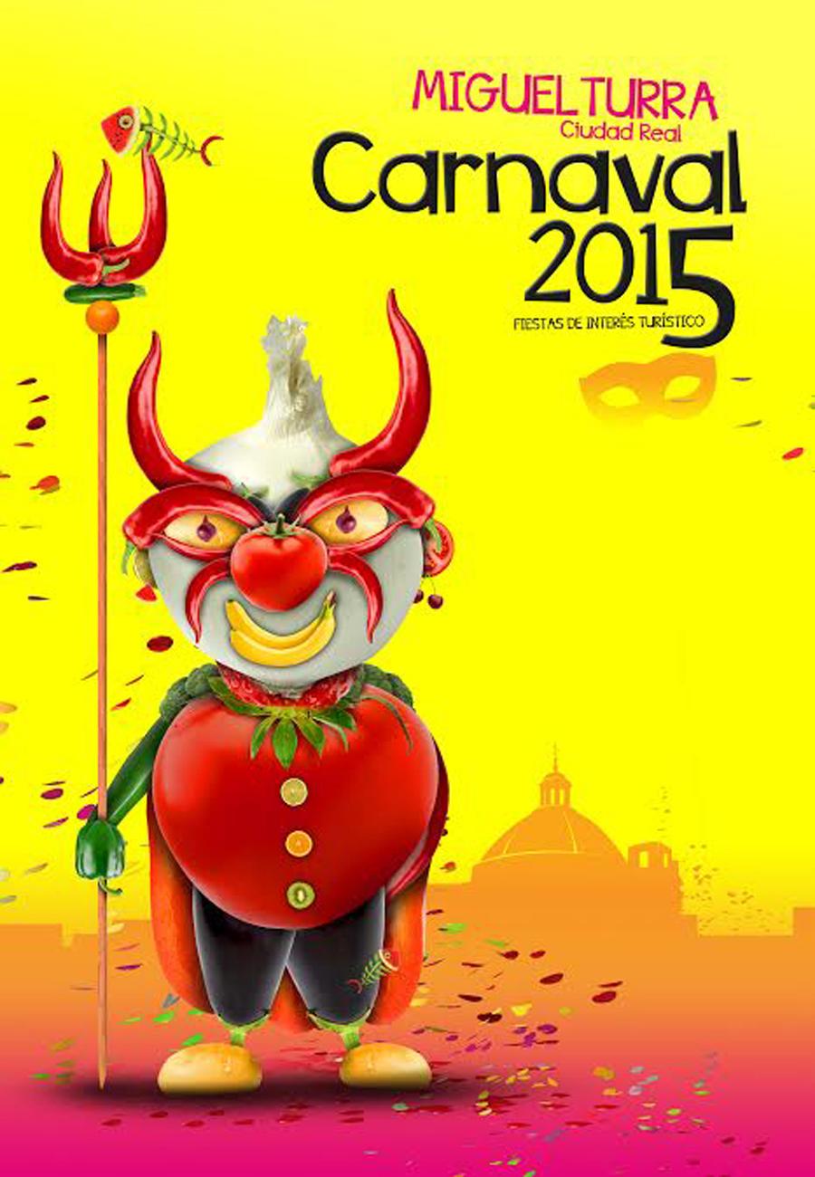 Rubén Lucas García De Torreaguera (Murcia) Ganador del cartel anunciador de los Carnavales de Miguelturra 2015