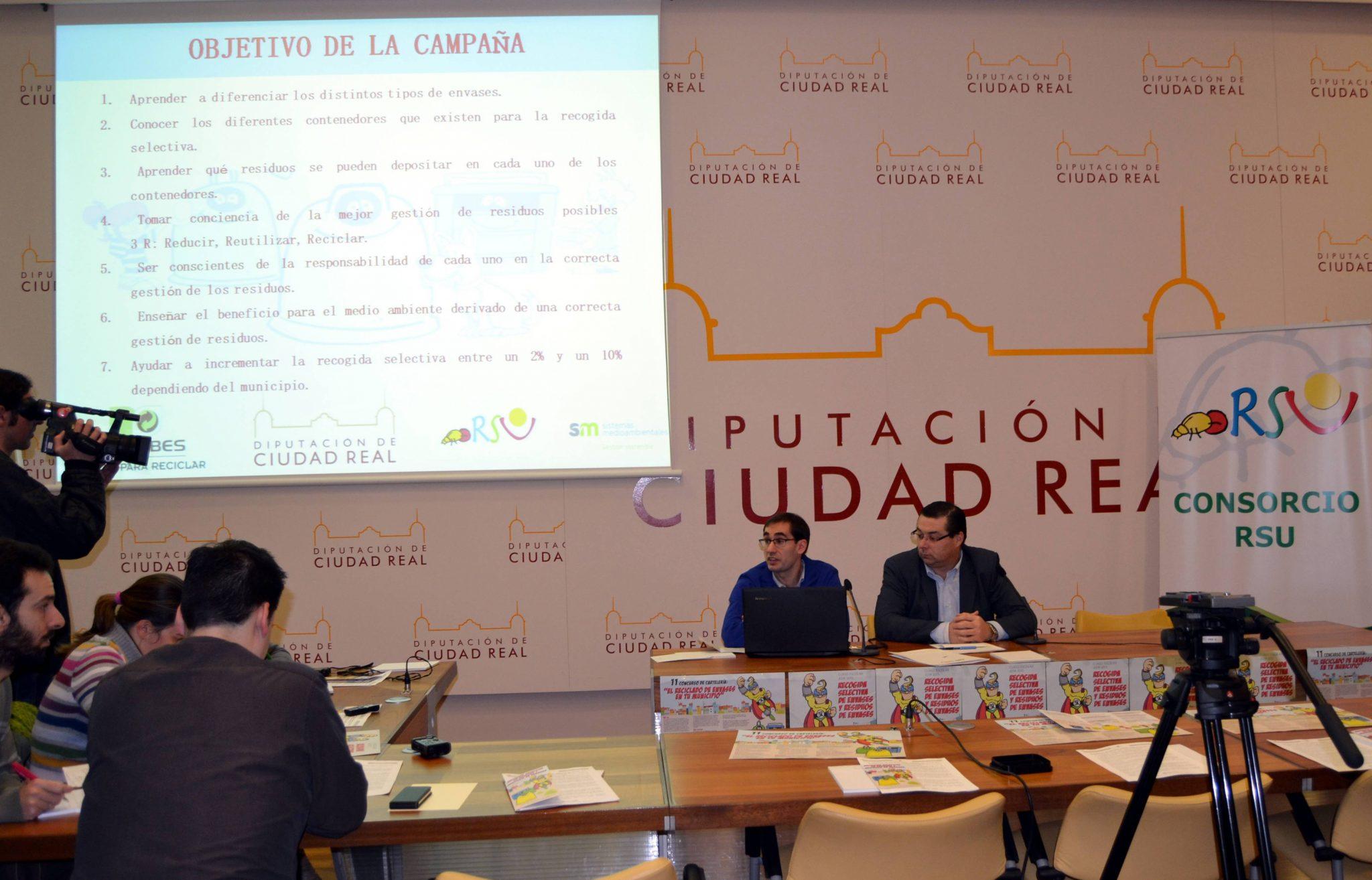 El Consorcio de Residuos Sólidos Urbanos de Ciudad Real presentó la Campaña de Educación Ambiental 2015