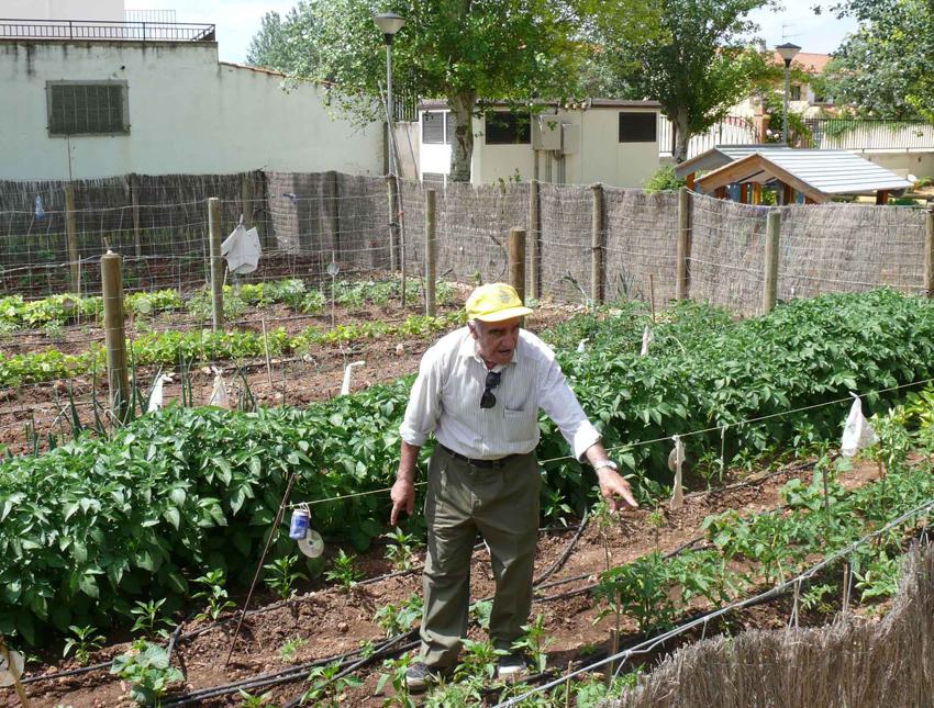 Imagen de Octavio en el huerto del abuelo, 2014.