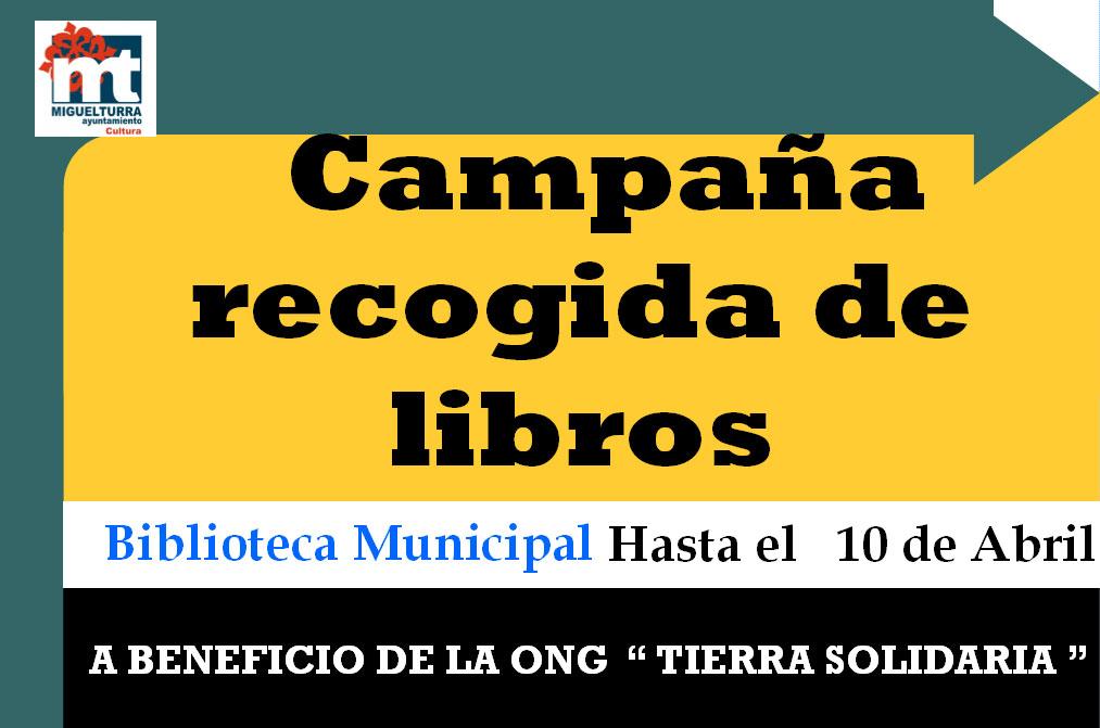 La Biblioteca Municipal de Miguelturra colabora en la recogida de libros a favor de la ONG Tierra Solidaria