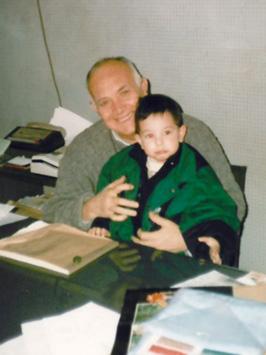 Francisco Marín junto a su nieto Alberto Marín