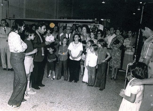 Tinte Madrid Bendición de la actual nave el día de su inauguración hace 35 años
