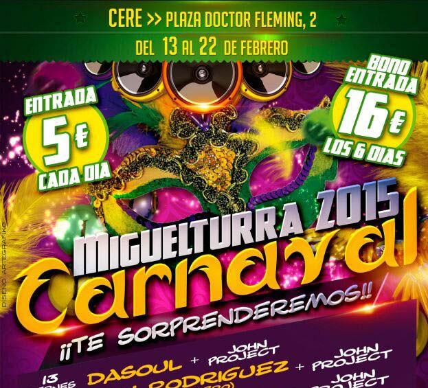 Dasoul, Henry Méndez, Cristian Deluxe o Ruly Rodríguez pondrán el ritmo al Carnaval de Miguelturra