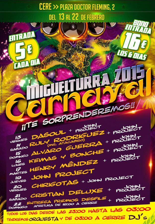 cartel djs carnaval 2015 miguelturra
