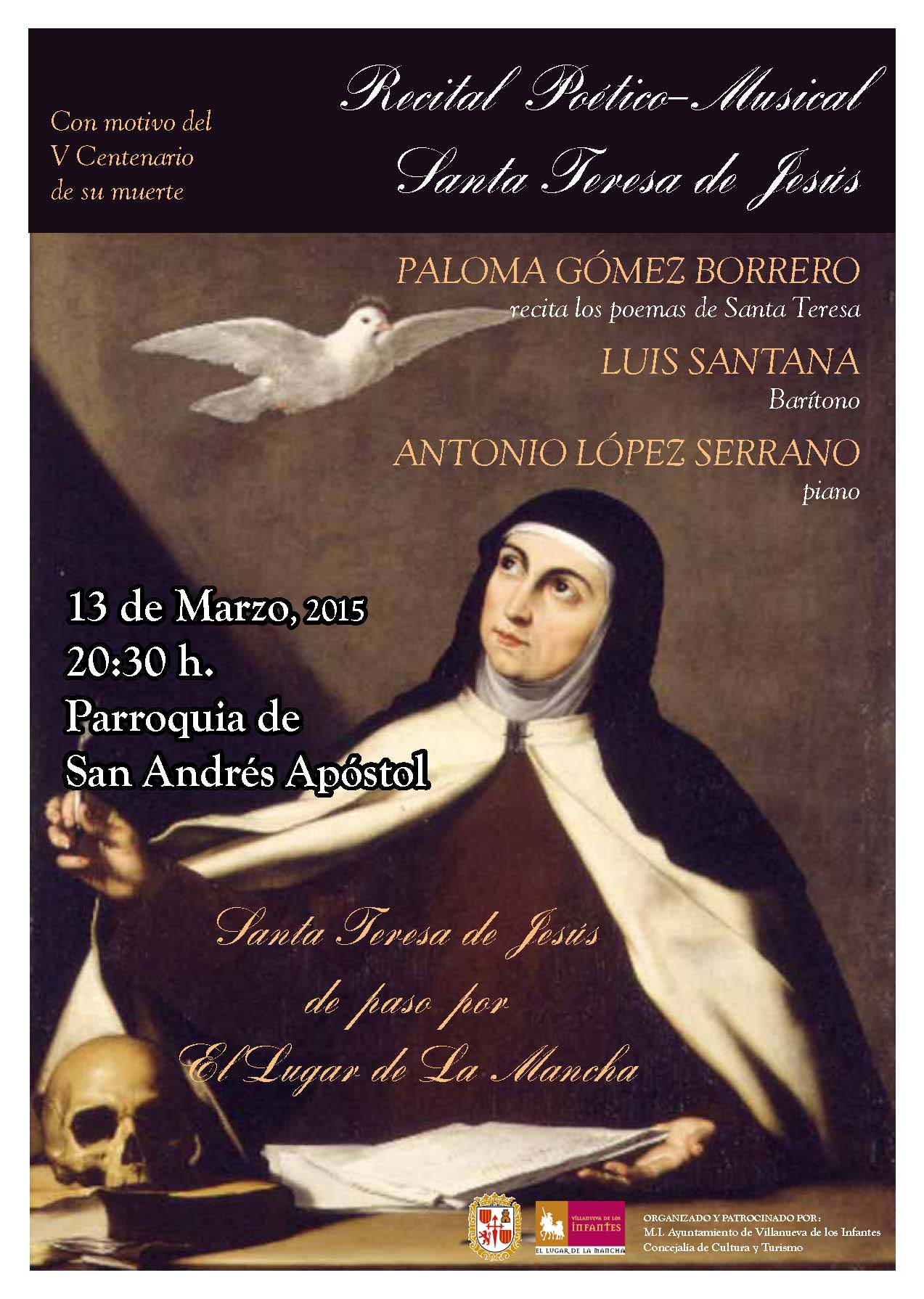 Paloma Gómez Borrero pone voz a Santa Teresa en Villanueva de los Infantes