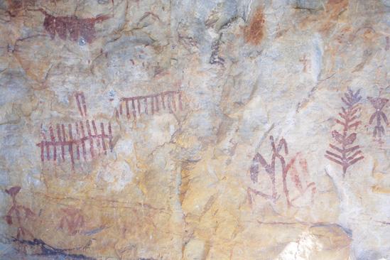 pinturas esquemáticas en Fuencaliente