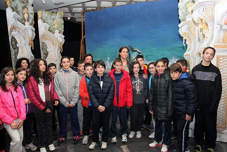 La alcaldesa recibe en el Museo del Quijote a los primeros escolares del Gabinete Pedagógico de los Museos Municipales