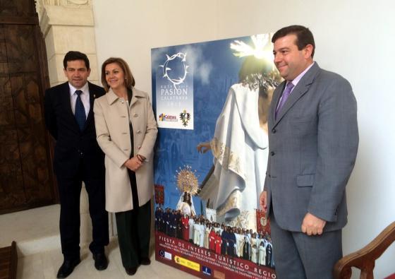 La presidenta Cospedal presenta la Ruta de la Pasión Calatrava como una de las celebraciones de Semana Santa destacadas de la región