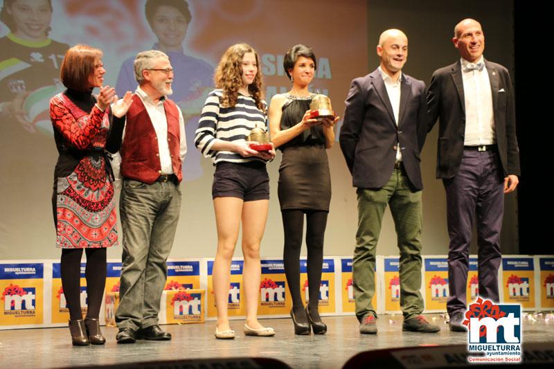 La Gala Deportivos 2014 Miguelturra premió a Silvia Albín Mendoza y Ángela Martín Martín