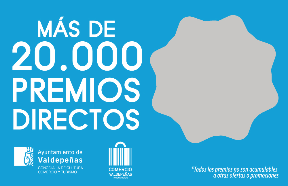 """Arranca el """" Rasca y gana """" con 24.000 premios para promocionar el comercio de Valdepeñas"""