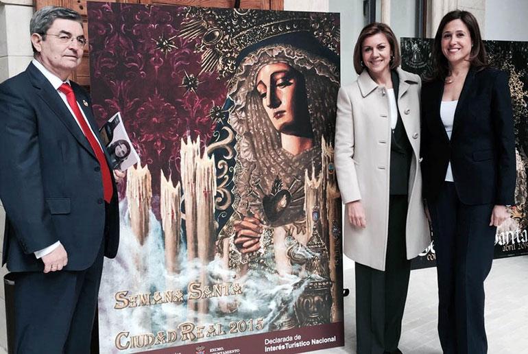 La alcaldesa asiste al acto de presentación de la Semana Santa en Castilla-La Mancha por parte de la Presidenta Cospedal