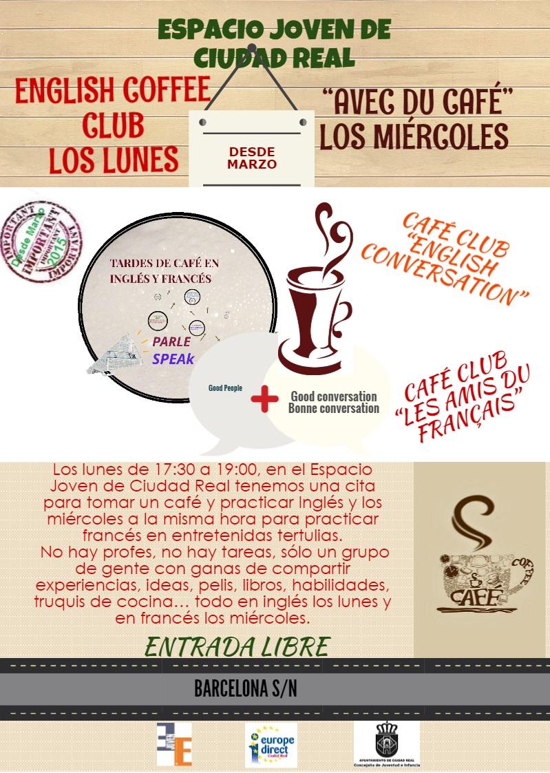 """El Concejal de Juventud de Ciudad Real presentó la actividad """"Tardes de café en inglés y francés"""""""