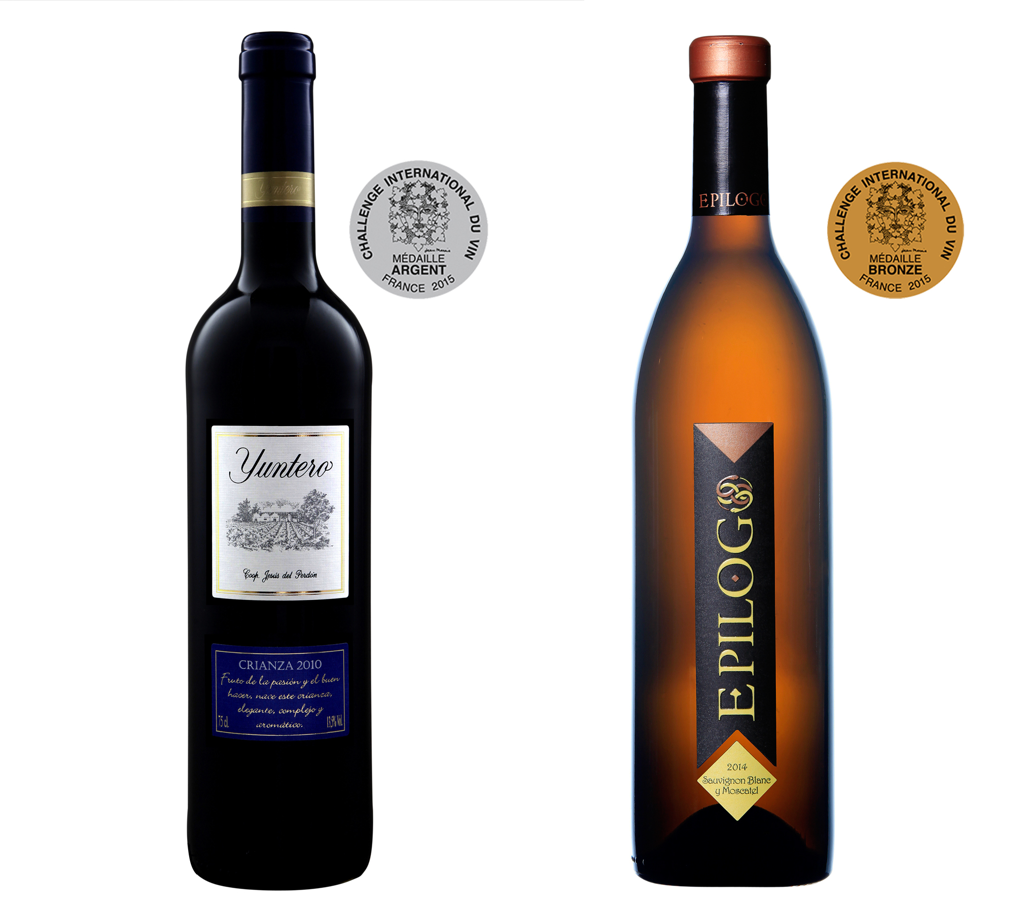 Bodegas Yuntero premiada con plata y bronce en el concurso Challenge International du Vin de Francia