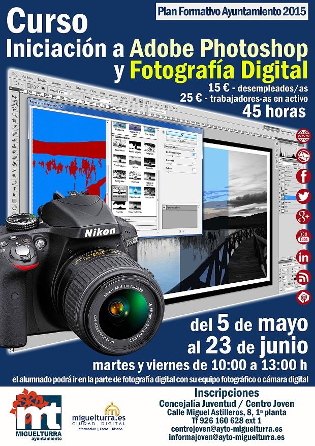 Curso de Iniciación a Adobe Photoshop y Fotografía digital del Ayuntamiento de Miguelturra