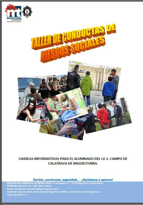 La Policía Local de Miguelturra imparte un curso de taller de conducta de riesgos sociales