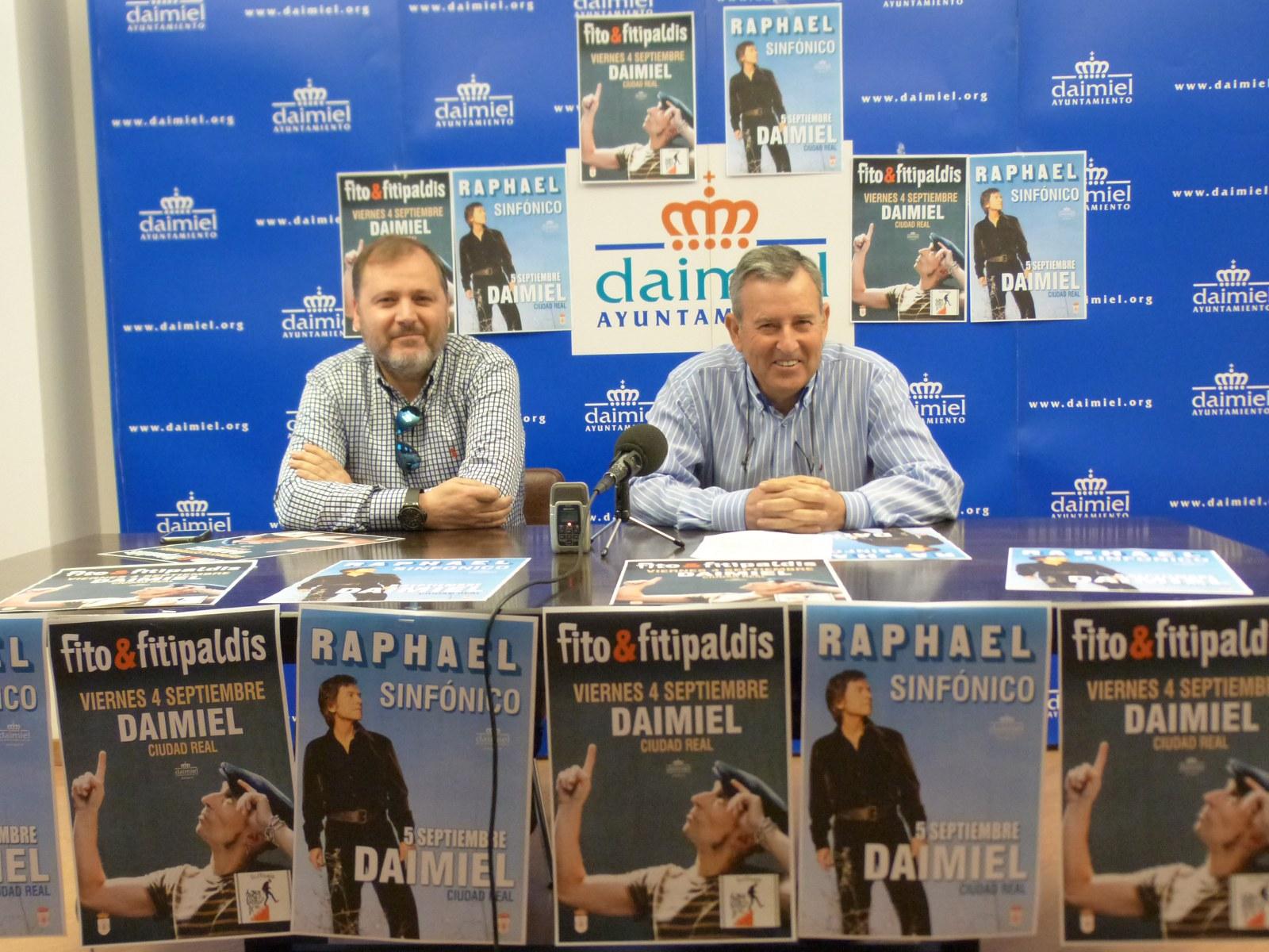 Fito y Fifipaldis y Raphael, en Daimiel en Concierto 2015