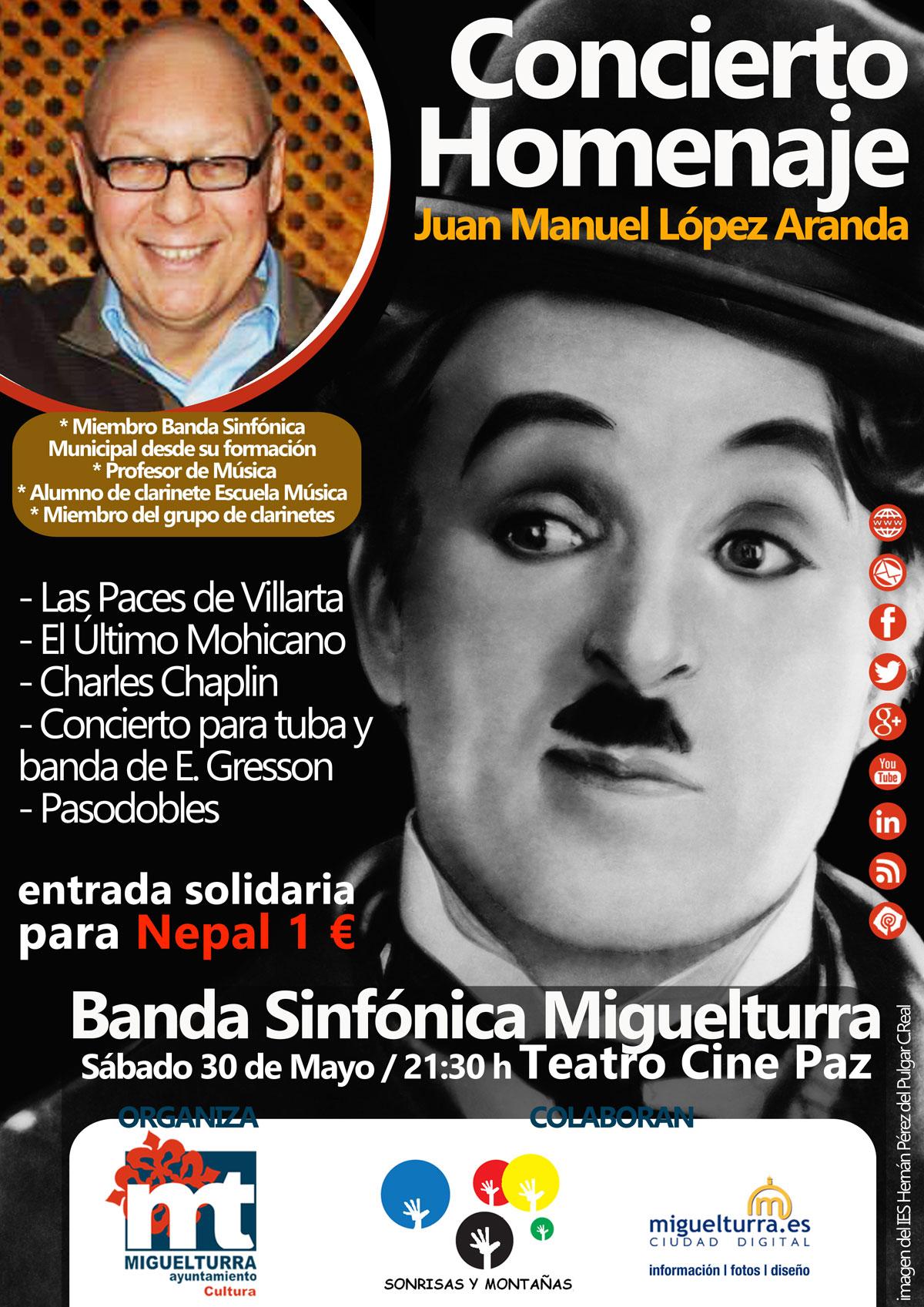 Concierto homenaje de la Banda Sinfónica Municipal de Miguelturra a Juan Manuel López Aranda