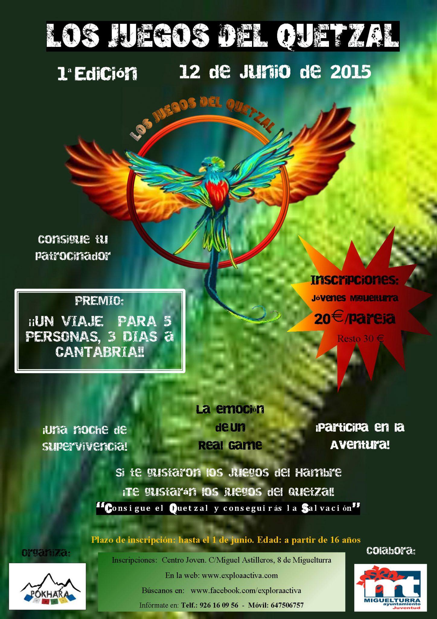 La asociación miguelturreña Pokhara organiza la Primera Edición de los Juegos del Quetzal