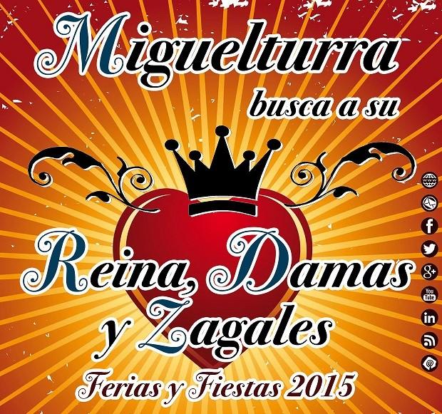 Miguelturra convoca el concurso de selección de la Reina, Damas y Zagales de las Fiestas 2015