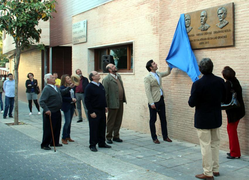 Reconocimiento en Torralba de Calatrava a los 3 benefactores de la Fundación Díaz-Crespo Arenas- Rodríguez