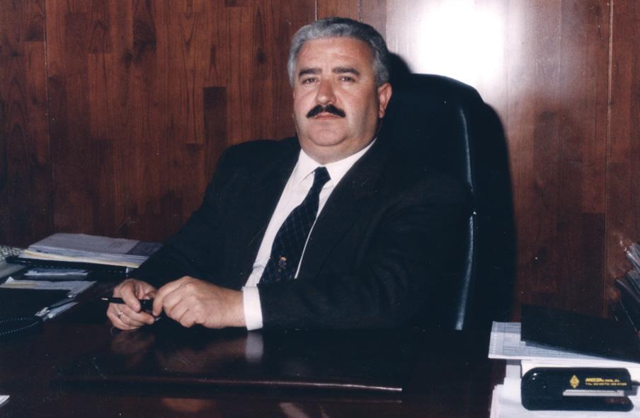 Nicasio Zamora, hace unos años en su despacho / Metsa