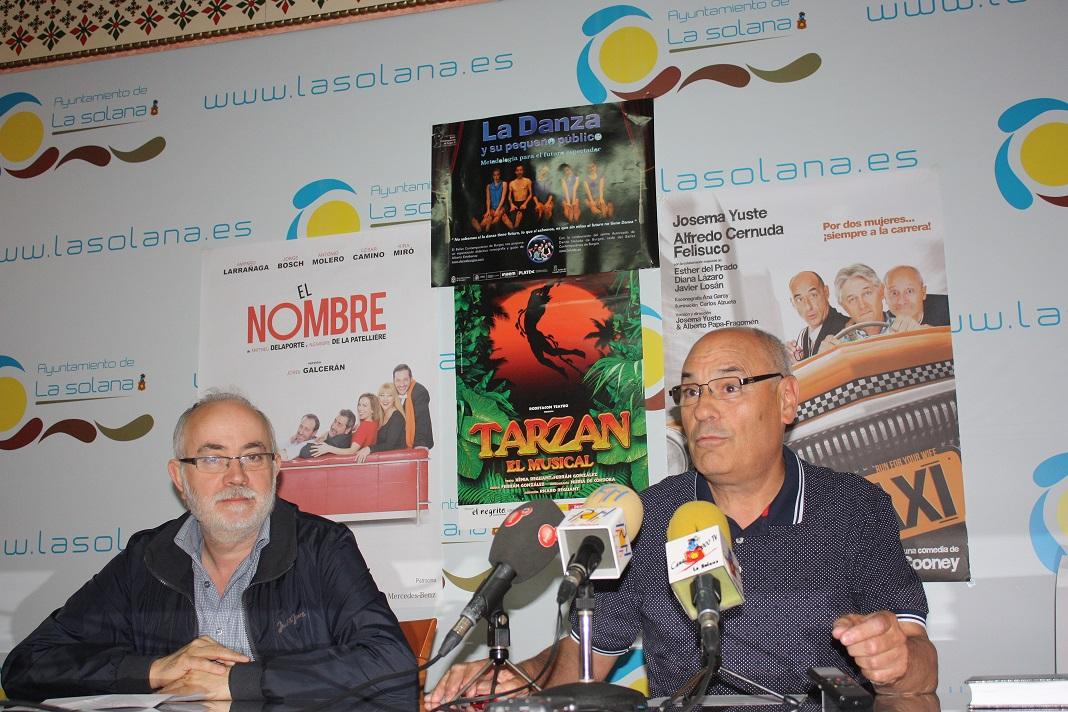 """La comedia """"El Nombre"""" abrirá el domingo la temporada del programa """"Platea"""" en La Solana"""
