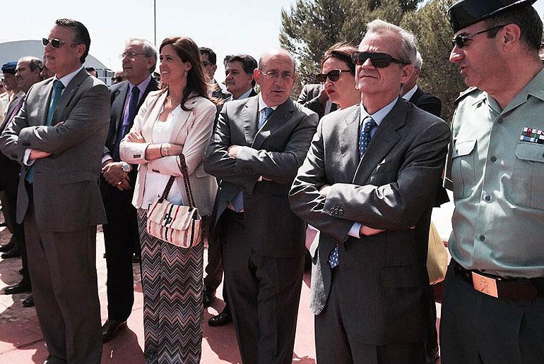 Rosa Romero refrenda las buenas relaciones del Ayuntamiento con la Base de Helicópteros de Almagro