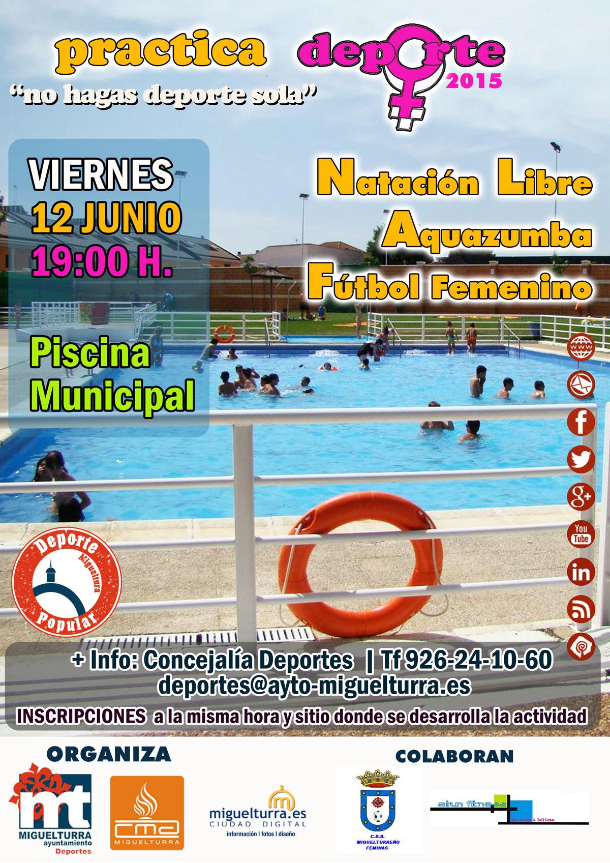practica deporte piscina