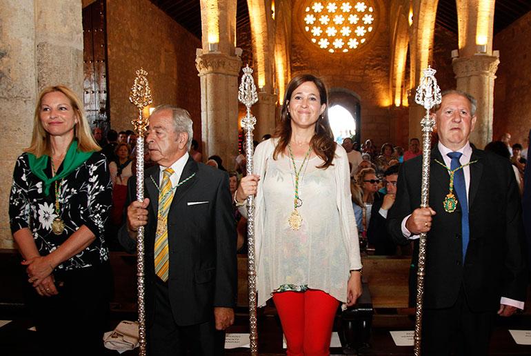 La alcaldesa en funciones asiste a la Solemne Función Religiosa de la Virgen de Alarcos
