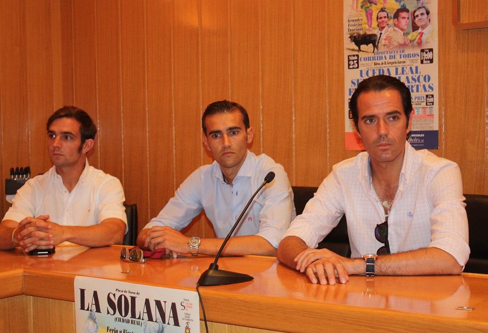 Uceda Leal, Sergio Blasco y Emilio Huertas, torearán el 25 de julio en La Solana