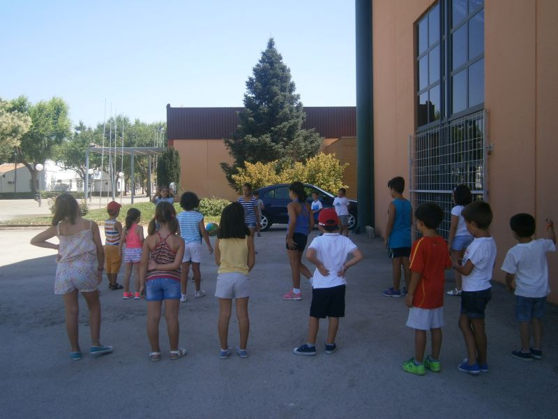 Participantes en el primer turno del campamento