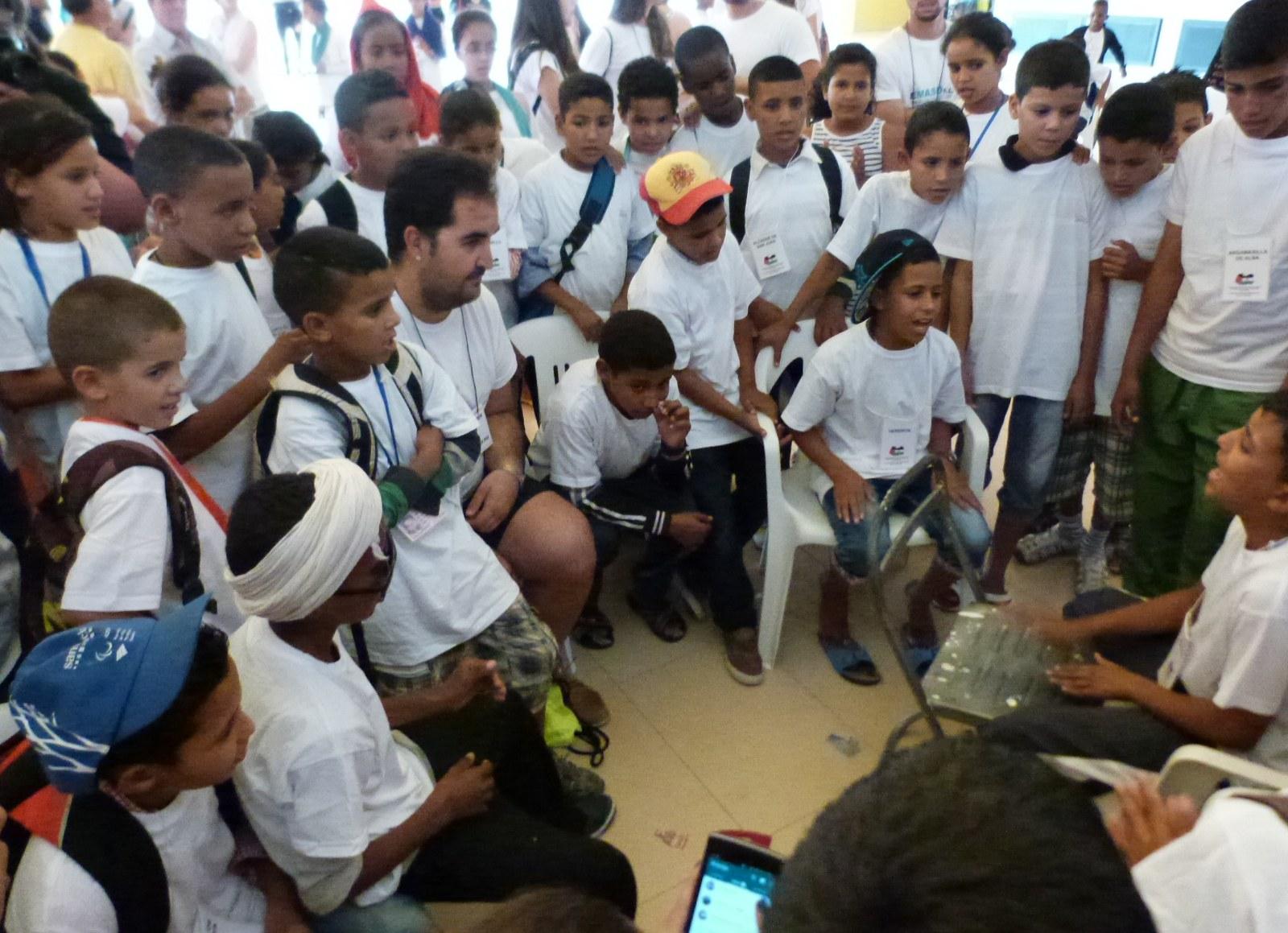 Daimiel recibió este fin de semana a los 360 niños saharauis que pasarán el verano en Castilla-La Mancha