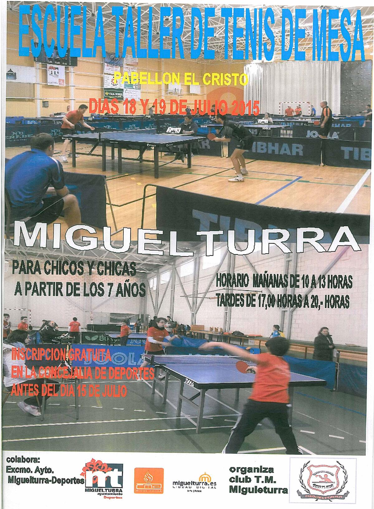 escuela taller de tenis de mesa