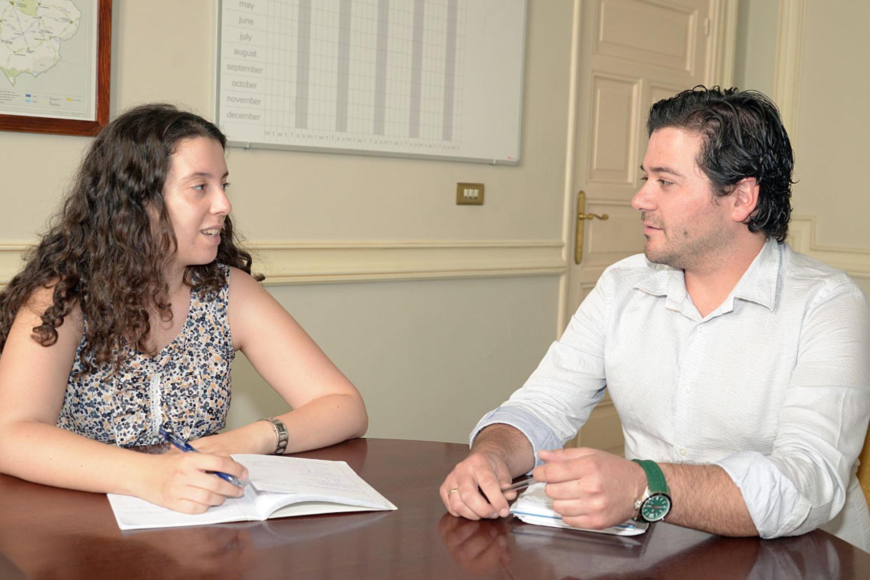 David Triguero y Sara Martínez