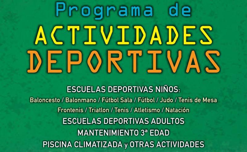 Guía con el programa de actividades deportivas para el curso 2015-2016